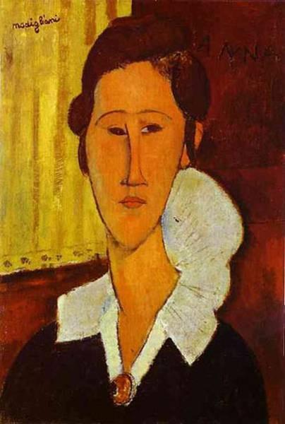 portrait of anna zborovska 1917 XX galleria nazionale darte moderna rome italy